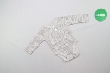 Дитяче боді у смужку з рукавами     Довжина: 33 см Ширина плечей: 18 с