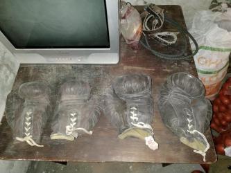 перчатки-бишкек в Кыргызстан: Боксерские перчатки, кожаные!