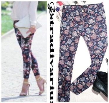 Pantalone struk elastina - Srbija: Prelepe,skroz uske pantalone,lepog cvetnog dezena.Imaju dosta elastin