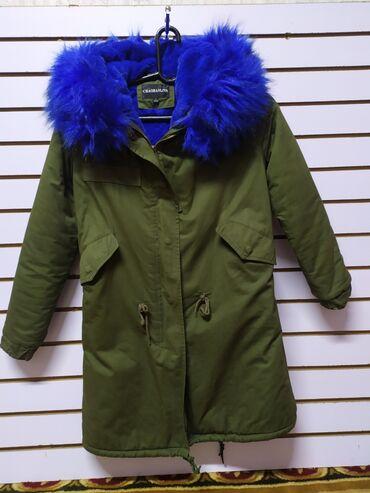 зимние пальто бишкек в Кыргызстан: Парка зимняяОчень теплая 46 размерМожно обмен на пальто бежевоеПочти