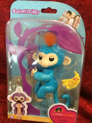 Baby monkey интерактивная ручная обезьянка, копия fingerlings monkey W в Лебединовка