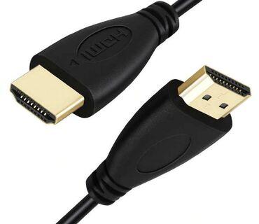 hdmi kabel в Кыргызстан: Кабель HDMI (HDTV to HDTV) 5м 2.0v цвет: черный состояние: новый