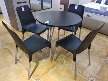 прием пластика бишкек в Кыргызстан: Обеденная группа стол с 4мя стульями.Производитель компания