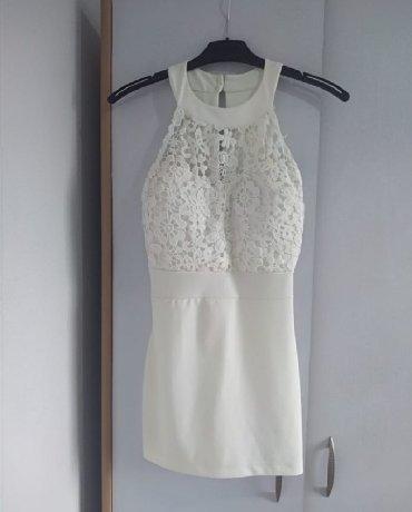 Ženska bela čipkana haljina, XS veličina nova