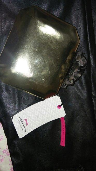 Clutch bag ολοκαινουριο αχιλλεας. σε χρυσο χρωμα με μεγαλο σατεν λουλο σε Αθήνα - εικόνες 2