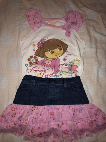 Dečija odeća i obuća | Tutin: Suknjica /sorc i majica za 5 god