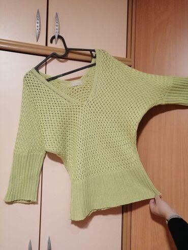 Ženska odeća | Mladenovac: Zeleni pamucni dzemper, mis rukavi Velicina 38Za vise informacija