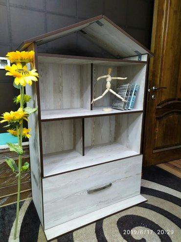 дом-для-кукол в Кыргызстан: Домик для кукол с ящиком для игрушек. Собран очень качественно, кромка