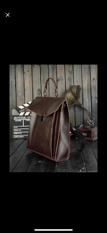 удобный фотоаппарат в Кыргызстан: Продаю кожаный рюкзак. Новый. Очень вместительный, стильный, удобный