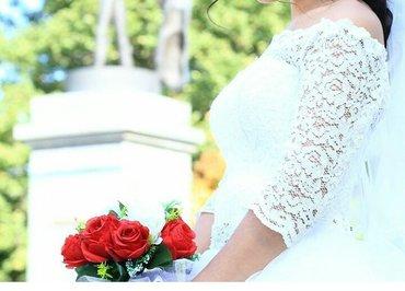 Продаю свадебное платье цвета айвори в Бишкек