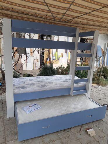 кровать трансформер детская купить в Кыргызстан: Кровать двухярусная с доп местомПродаю НОВУЮ детскую двухярусную