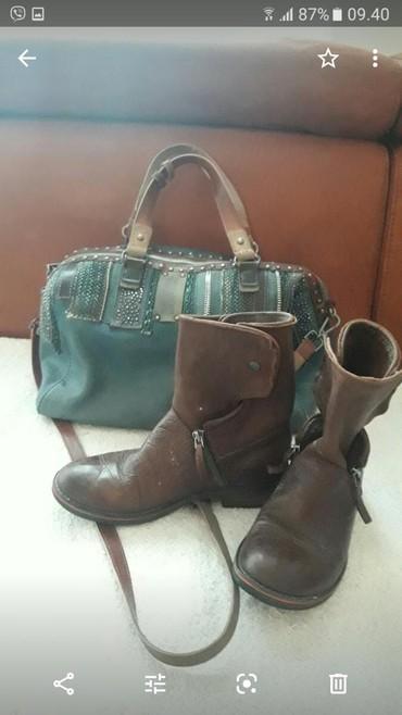 Dior torba - Srbija: CIZME TORBA NA POKLON  Exit cizme 37 vel 23.5cm i torba kozna