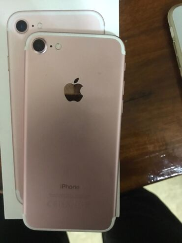 сколько стоит iphone 7 in Кыргызстан   APPLE IPHONE: IPhone 7   32 ГБ   Розовый Б/У   С документами