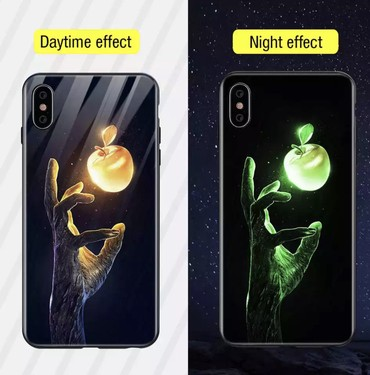 jbl-чехол в Кыргызстан: Светящийся стеклянный чехол для iPhone 7 plus, 8 plus с силиконовым ба