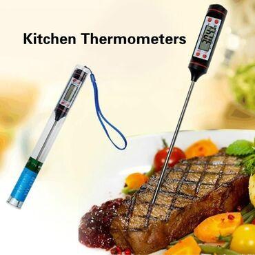 встраиваемая вытяжка для кухни в Азербайджан: Bisiridiyiniz yemeklerin temperaturunu gosteren elektron termometr