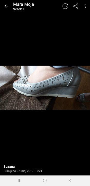 Sandale KOZNE srebrne nove broj 40 - Loznica - slika 2