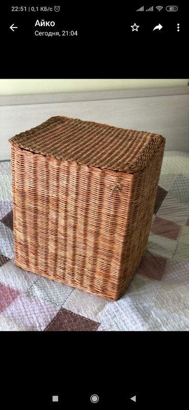 Плетенная корзина для белья. Ручное плетение. Размеры: 32×44 высота