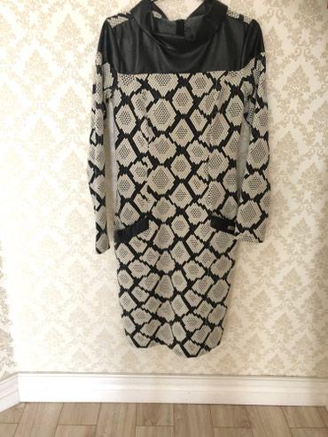 Платье с кожаными вставками)Отличное состояние,брала за 5000 в Бишкек