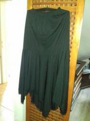 Novo! Moderna postavljena zenska suknja sa spicevima, boja:crna, - Belgrade