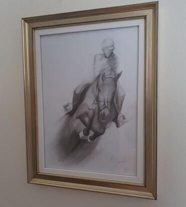Prelepa grafika - Dzokej na konju
