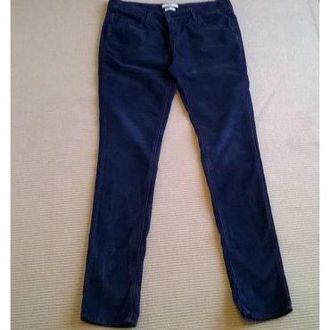 Παντελόνι πολύ λεπτό κοτλέ μπλέ σκούρο Reiko Skinny - Siza 28 - Μέση