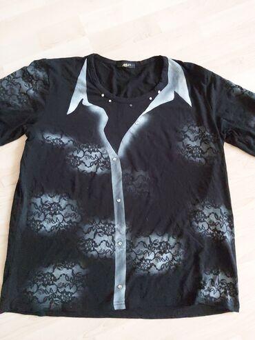 Pamucna majica 46,majica je nova, zift crna, nedostaje jedan cirkon