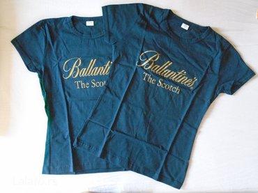 Majica zenska - Srbija: Tri teget zenske majice + jedan kacket. Dve su nove i otpakovane za