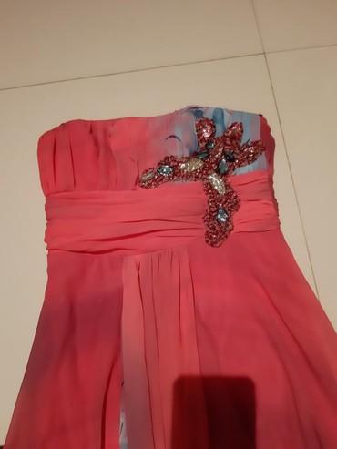 Top dugacka haljina sa nasivenom zvezdom veoma interesantna roze boja - Backa Palanka