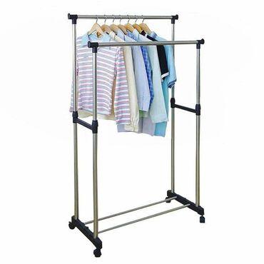 Kuća i bašta - Sombor: Dupli stalak za odecuNosivosti do 30kglak za montažuima točkiće tako