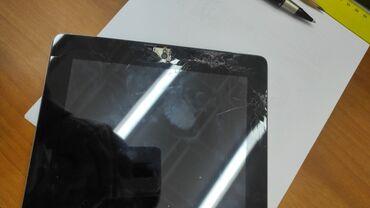 фужеры стекло в Кыргызстан: Ipad model а1460(16gb, wifi+4g) стекло с повреждение, полностью в рабо