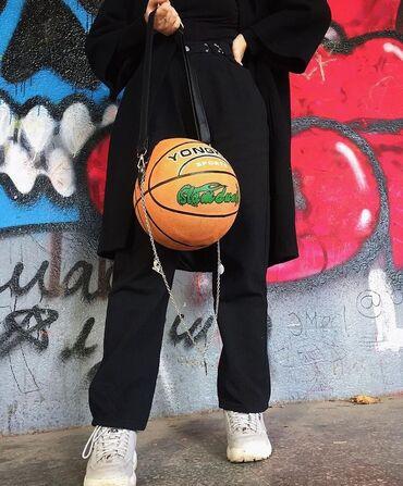 Сумка баскетбольный мяч.  Полностью ручная работа