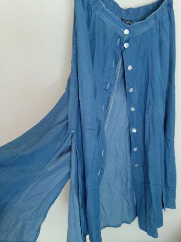 Teksas suknja Mangunn sa slicevima okolo Na kopcanje. Veličina 40