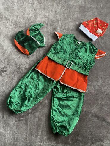 Новогодний костюмчик эльфа, гномика на 2-4 года. В хорошем состоянии!