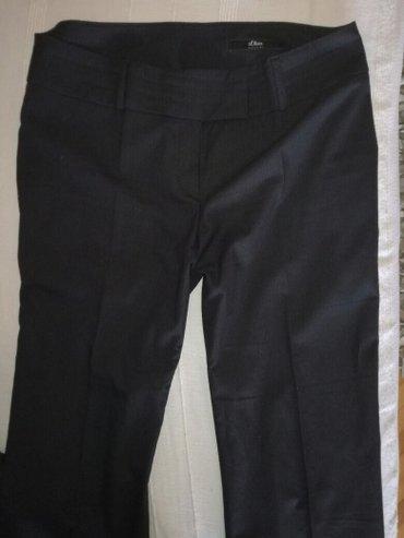 S. Oliver pantalone, kvalitetne, kao nove, crne sa jedva vidljivim pru - Nis