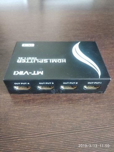 HDMI сплиттер 4 портовый работает четко в Бишкек