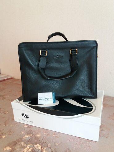 Продаю мужские сумки брендовые dino ricci ( новый кожаный чёрные )