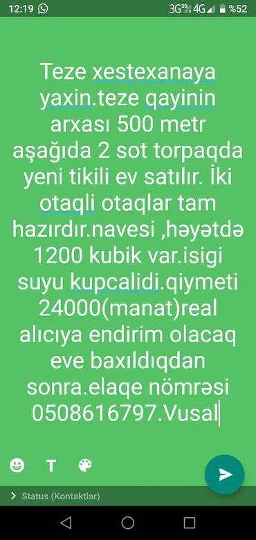 - Azərbaycan: Satılır Ev 2 kv. m, 2 otaqlı
