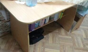 продам кухонный стол in Кыргызстан | СТОЛЫ: Продаю кухонный стол, 80-150см,в отличном состоянии цвет: бежевый