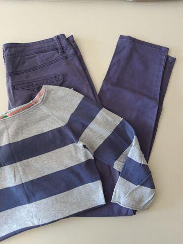 Benetton komplet, dzemperic 3/4 rukava vel. M i pantalone vel. M