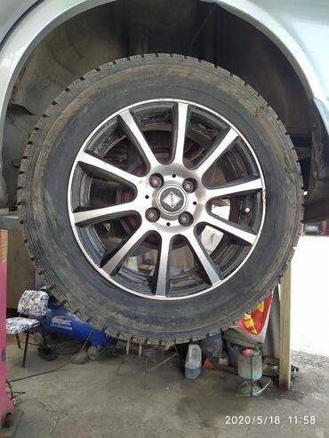 Титан диск 15 размер Тойота Ист 3 штук и резина 2 штук