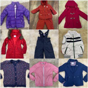 вязанный жакет в Кыргызстан: 1. Фиолетовая тёплая курточка Sela на 10 лет. 150 сом 2. Детский красн