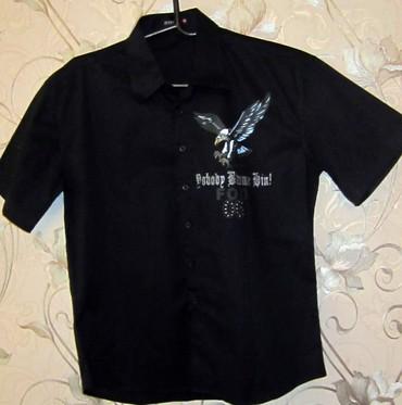Рубашка черная с аппликацией новая с европы в Бишкек