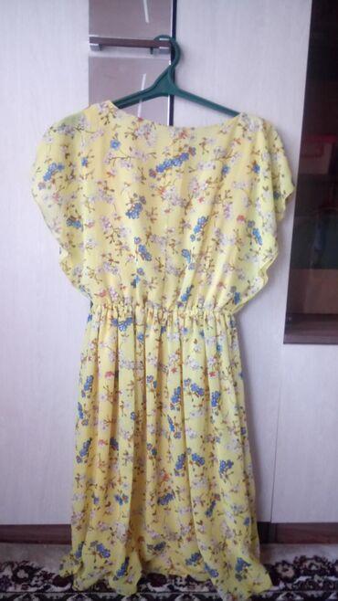 Шифоновое платье, состояние отличное, размер 50-52, прошу 700 сом