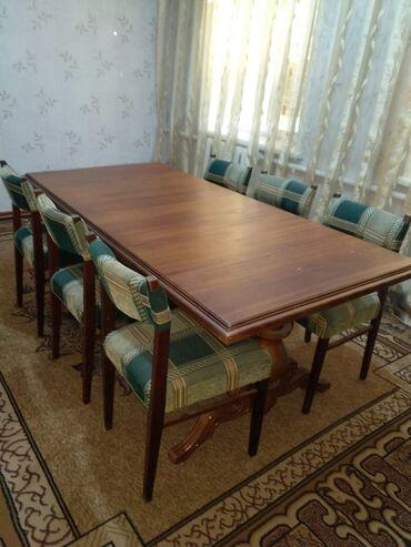 бу мебель in Кыргызстан | ДРУГАЯ МЕБЕЛЬ: Дубовый стол с вырезными ножками,крепкийкачественный!
