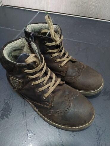 Коричневые кожаные ботинки, турецкой фирмы Toddler 33рЗимние ботинки