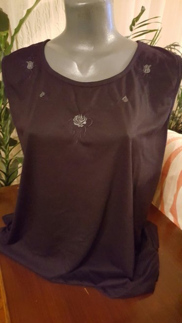 Majica crna bluza sa aplikacijom velicina m - Pozarevac