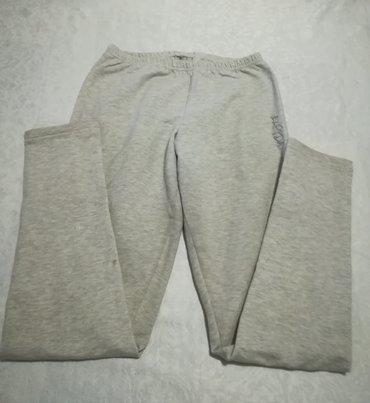 Ženska odeća | Vranje: Helanke-pantalone sive boje Elpida, vel XL, obim struka 62 cm, dužina