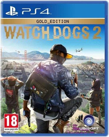 Bakı şəhərində Ps4 üçün Watch Dogs 2 oyun diski. Yenidir Ps4 lenti bağlamada