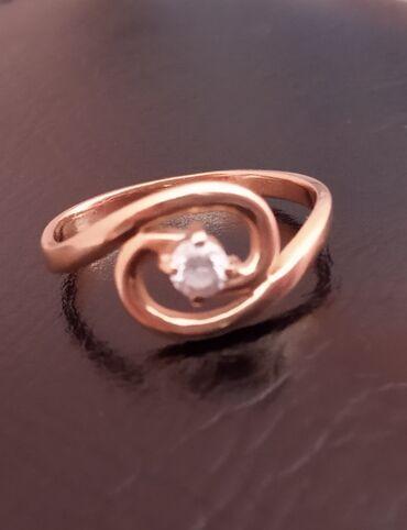 sl 925 кольцо в Кыргызстан: Золотое кольцо, размер 17.5, российское золото 585 пробы