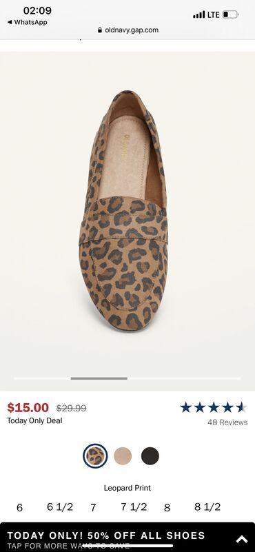 купить женскую обувь недорого в Кыргызстан: Балетки Новые old navy 38, 5 размер